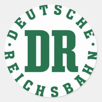 GDR/GDR Railway - German National Railroad Sign Classic Round Sticker