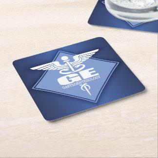 GE Gastroenterology Square Paper Coaster