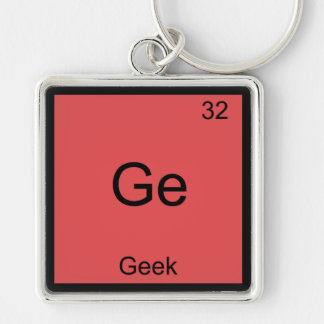 Ge - Geek Funny Chemistry Element Symbol T-Shirt Key Chains