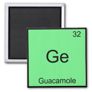 Ge - Guacamole Funny Chemistry Element Symbol Tee Square Magnet