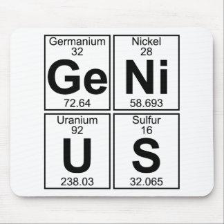 Ge-Ni-U-S (genius) - Full Mouse Pad