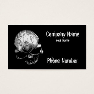 Gear Head Skull Business Card