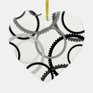 Gear Rings Ceramic Ornament