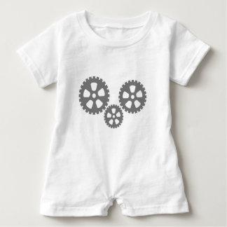 gear wheel baby romper