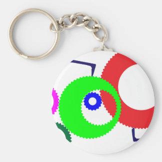 Gear Works Basic Round Button Keychain