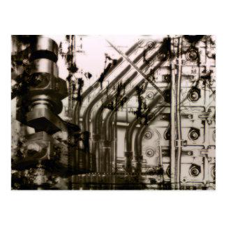 Geared Up Grunge Gothic Postcard