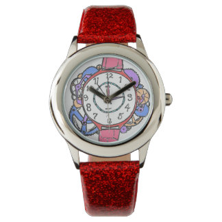 Gears and movement Wristwatch