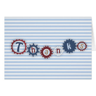 Gears and Sprockets Thank You Card