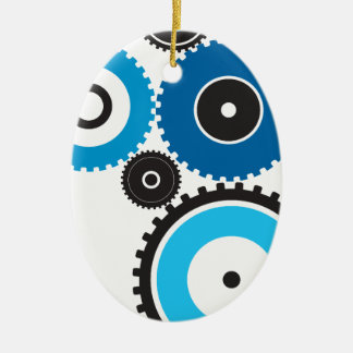 Gears Ceramic Ornament