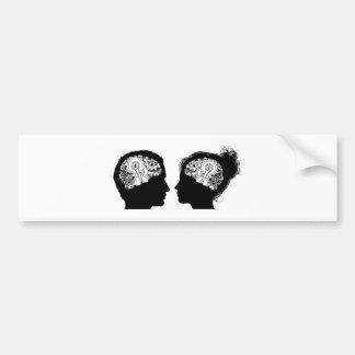Gears Cogs Brain Concept Bumper Sticker