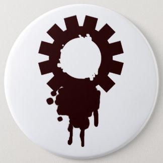 Gears logo 6 inch round button