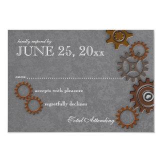 Gears Rustic Industrial Wedding Response Card