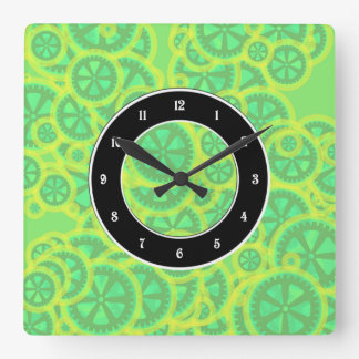 Gearwheels Square Wall Clock