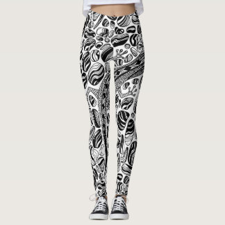 Gecko and pebbles leggings