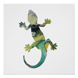 Gecko art perfect poster