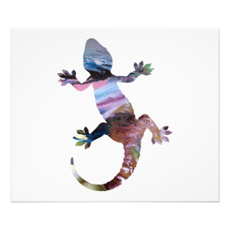 Gecko art photo print