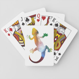 Gecko art playing cards