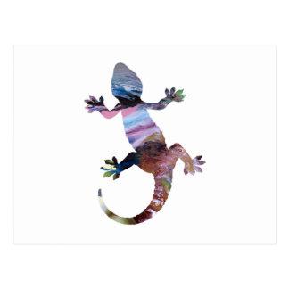 Gecko art postcard