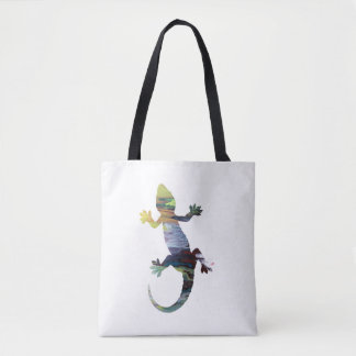 Gecko art tote bag