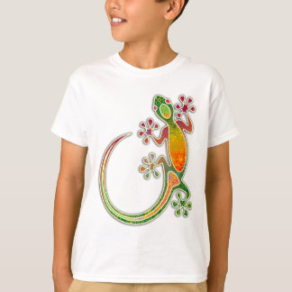 Gecko Floral Tribal Art T-shirts