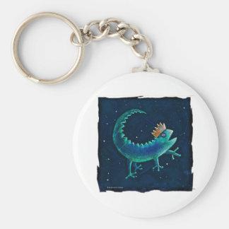 Gecko King Keychain