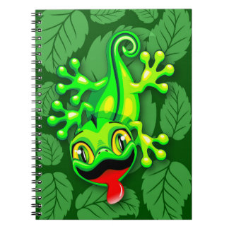 Gecko Lizard Baby Cartoon Notebook