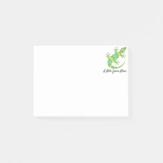 Gecko Lizard Emoji Post-it Notes