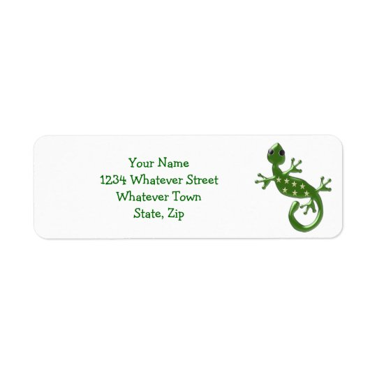 Gecko Lizard Return Address Label