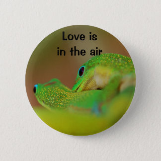 Gecko Love 2 Inch Round Button