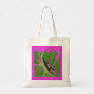 Gecko on Leaf Tote Bag