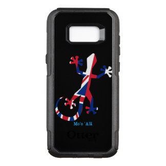 Gecko Silhouette as Flag of Hawaii OtterBox Commuter Samsung Galaxy S8+ Case