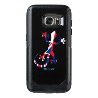 Gecko Silhouette as Flag of Hawaii OtterBox Samsung Galaxy S7 Case