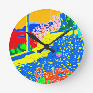 Gecko Table Round Clock