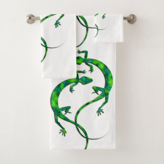 Geckos Bath Towel Set