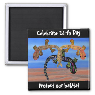 Geckos Celebrate Earth Day Magnet
