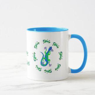Geckos in a Circle Mug