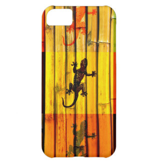 Geckos on bamboo wall graphic art cover for iPhone 5C