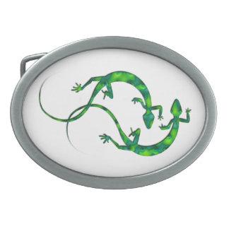 Geckos Oval Belt Buckle