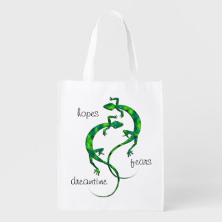 Geckos Reusable Grocery Bag