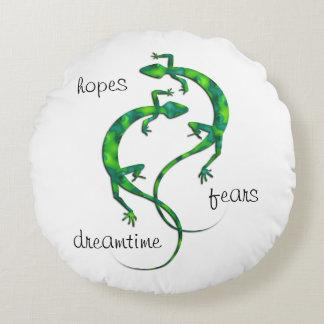 Geckos Round Pillow