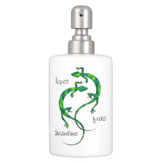 Geckos Soap Dispenser And Toothbrush Holder