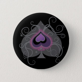 Geebot's aces colour spade logo pride button