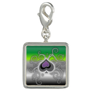 Geebot's spade aro aromantic gradient pride flag photo charms