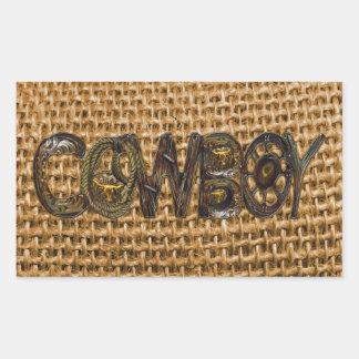 Geebung Cowboy Burlap Sticker