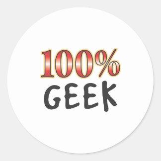 Geek 100 Percent Round Sticker