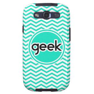 Geek Aqua Green Chevron Galaxy S3 Cover