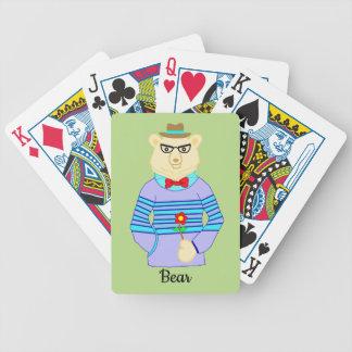 geek bear bicycle playing cards