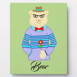 geek bear plaque