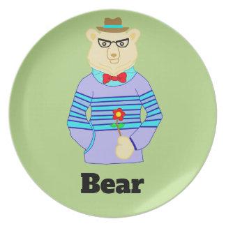 geek bear plate
