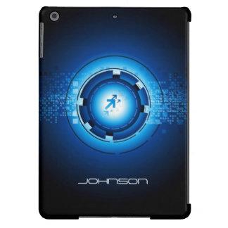 Geek Blue Abstract Hi-Tech Concept - Cool iPad Air Cases